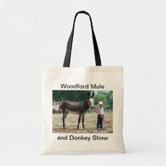 Large donkey budget tote bag