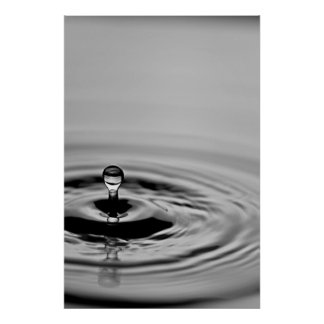 Large Droplet Poster