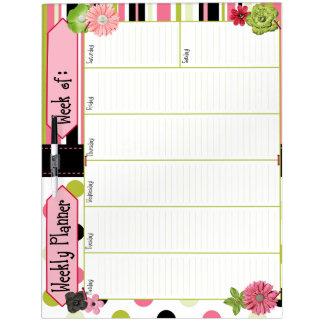 Large Dry Erase Board, Weekly Planner Dry Erase Board