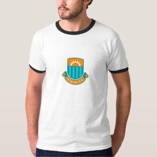 Large English Style Miami Football Euro Logo Tee Shirt