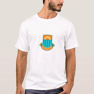 Large English Style Miami Football Logo T-Shirt