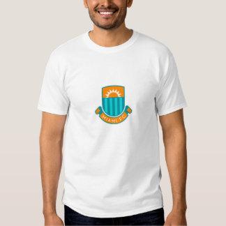 Large English Style Miami Football Logo Tshirt