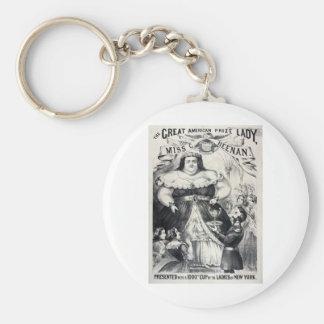 Large Fat Lady Basic Round Button Key Ring