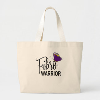 Large Fibro Warrior Purple Butterfly Tote