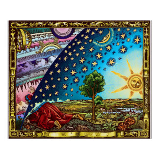 Large Flammarion Dome Poster
