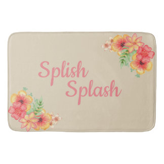 Large Floral Splish Splash Bath Mat