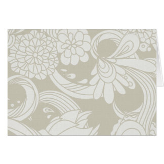 Large Flowers in Cream and White Greeting Card