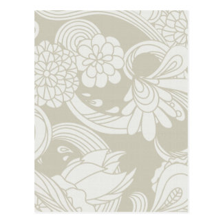 Large Flowers in Cream and White Post Card