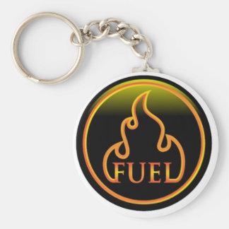 large fuel logo basic round button key ring