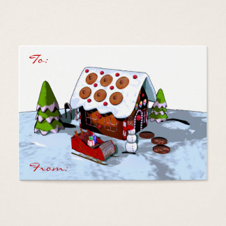 Large Gingerbread house Christmas Gift Tag