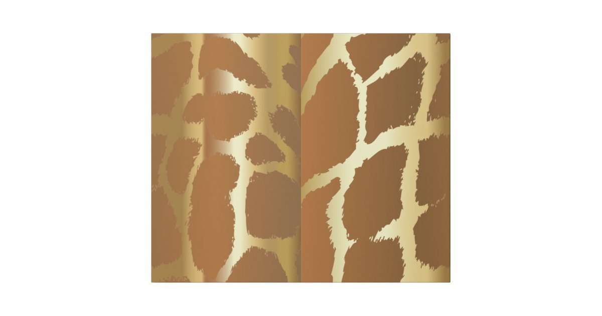 Large Giraffe Animal Print Wrapping Paper Zazzle
