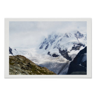 Large glacier in the Swiss alps Poster