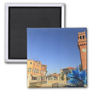 Large Glass Statue and Bell Tower, Italy Fridge Magnets