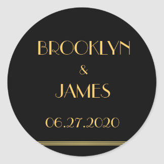 Large Gold And Black Great Gatsby Wedding Stickers