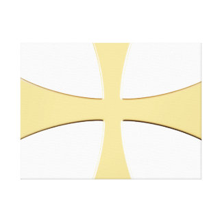 LARGE GOLD CROSS WRAP-MOUNTED PRINT STRETCHED CANVAS PRINT