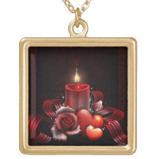 - Large gold finish necklace