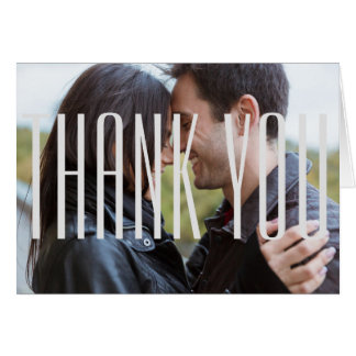 Large Gray Empire Photo - Thank You Note Card