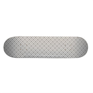 Large Gray Plaid Pattern Custom Skateboard