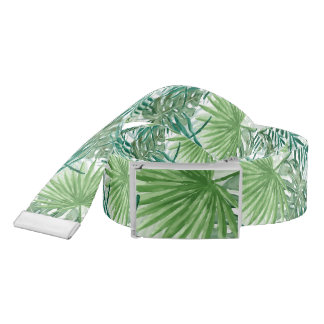 Large Green Fern Palm and Monstera Tropical Plants Belt