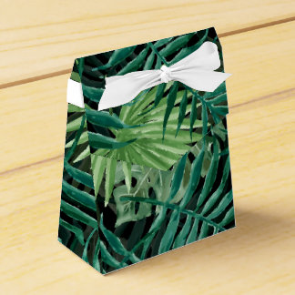 Large Green Fern Palm and Monstera Tropical Plants Favour Box