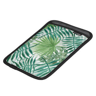 Large Green Fern Palm and Monstera Tropical Plants iPad Mini Sleeve