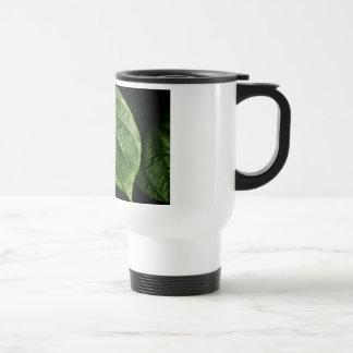 Large Green Leaf Coffee Mugs