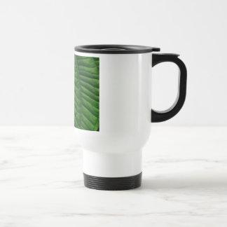 Large Green Leaf Stainless Steel Travel Mug