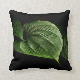Large Green Leaf Throw Cushions
