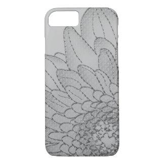 Large Grey Sunflower | Graphic Flower Design iPhone 8/7 Case
