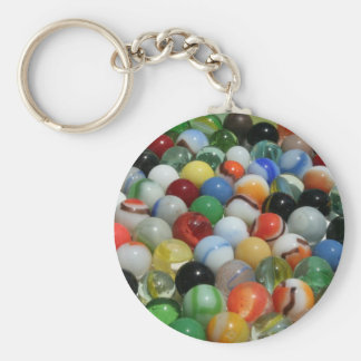 Large Group of Antique Toy Marbles Basic Round Button Key Ring