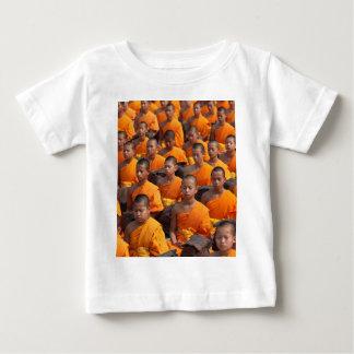 Large Group of Meditating Monks Baby T-Shirt