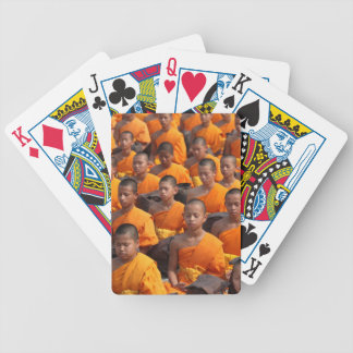 Large Group of Meditating Monks Bicycle Playing Cards
