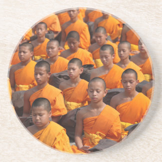 Large Group of Meditating Monks Coaster