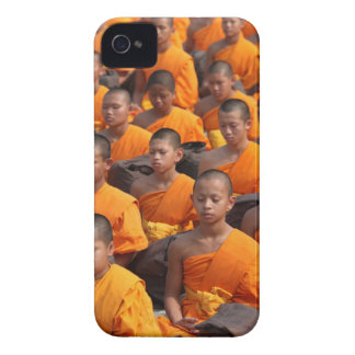 Large Group of Meditating Monks iPhone 4 Case-Mate Case