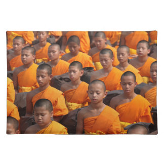 Large Group of Meditating Monks Placemat