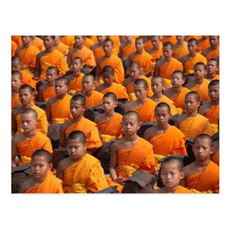 Large Group of Meditating Monks Postcard