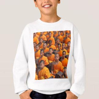 Large Group of Meditating Monks Sweatshirt