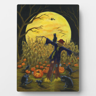 """Large Halloween easel backed art """"Jack's Place"""" Display Plaque"""