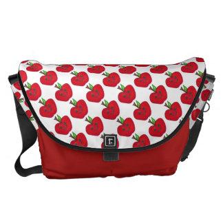 "Large ""Happy Apples Teacher"" Messenger Bag"