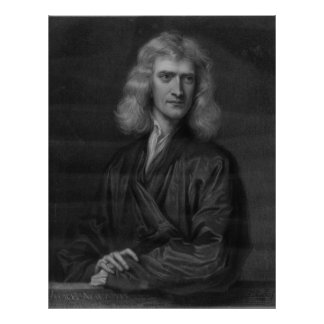 Large Isaac Newton Print in High Resolution