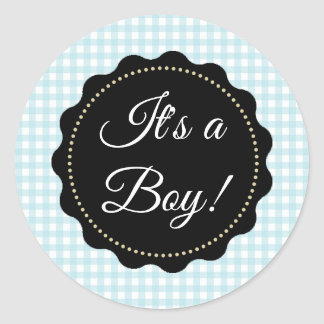 Large It's a Boy! Baby Shower Blue  Stickers