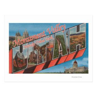 Large Letter Scenes - Monument Valley, UT Postcard