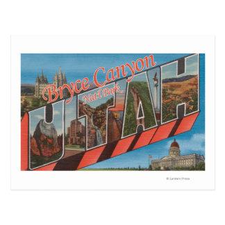 Large Letter Scenes Postcard