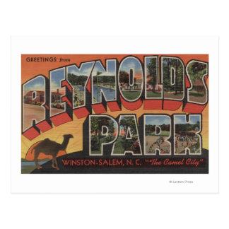 Large Letter Scenes - Reynolds Park, NC Postcard