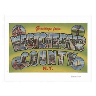 Large Letter Scenes - Westchester County, NY Postcard