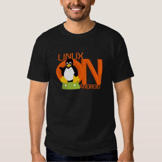 Large LinuxonAndroid logo Tshirt