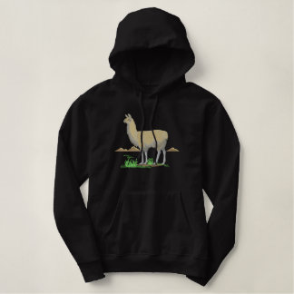 Large Llama Scene Embroidered Hoodie