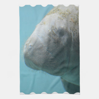 Large Manatee Underwater Tea Towel