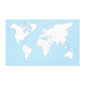 Large map OF the world Stretched Canvas Print