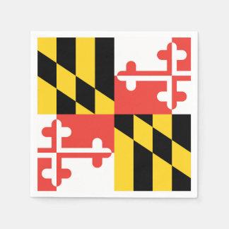 Large Maryland Flag Napkins Disposable Serviette